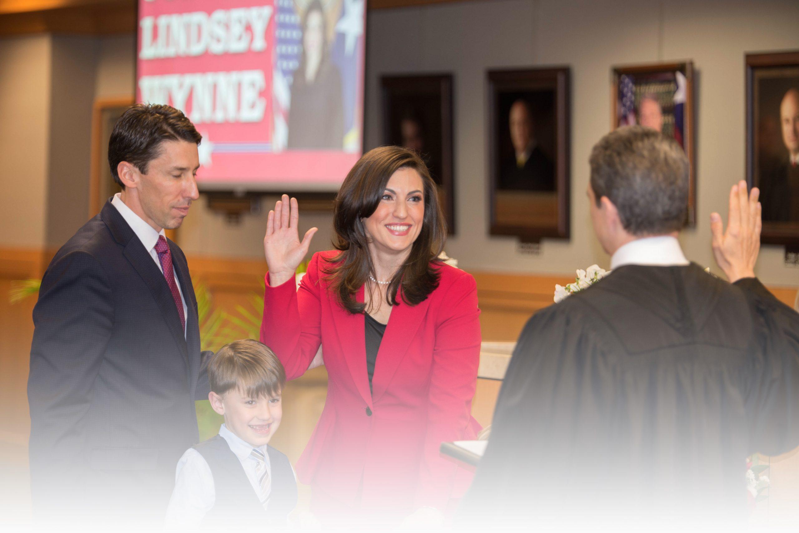 Judge Lindsey Wynne and Governor Abbott